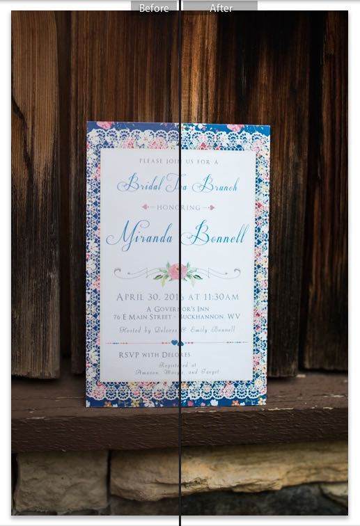 invite before and after